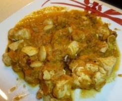 Pollo mozarabe (sin gluten y sin lactosa)
