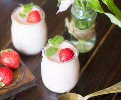 Variaciones Mousse de chocolate blanco y fresa