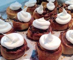 Minicaracolas con pepitas de chocolate y merengue suizo
