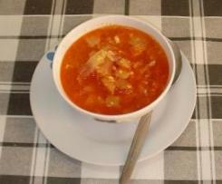 Sopa de ajo con col
