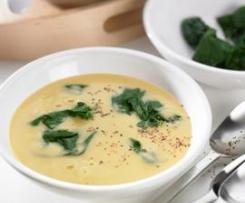 Sopa de garbanzos con espinacas (Sopa de grao com espinafres)