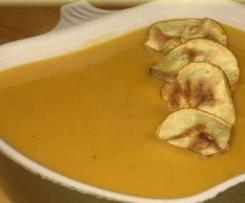 Crema fría de manzana al curry