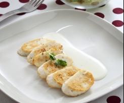 Salchichas de pollo con parmesano