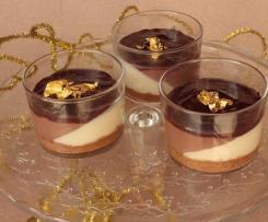 Vasitos de tarta a los tres chocolates