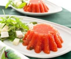 Mini gelatina de tomate al orégano