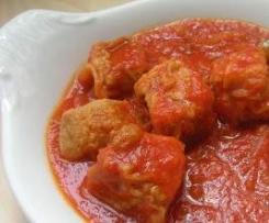 Atun, Atunarro, Bacoreta, Serrucho, Alistado con tomate y cebolla caramelizada