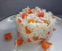 Arroz pilaf con calabaza y zanahoria