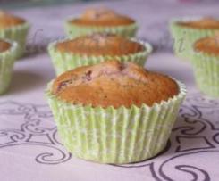 Muffins de arándanos con semillas de amapola