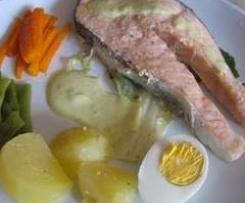 pescado,patatas y verduritas