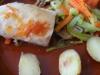Bacalao con verduras al vapor