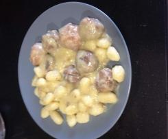 Albondigas de merluza en salsa de vino blanco montilla-moriles