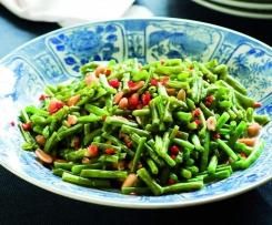 Judías verdes con cacahuetes (Tam Tua)
