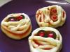 Pizzas-Momias - Receta para Halloween