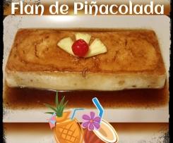 Flan de Piña Colada (piña y coco)