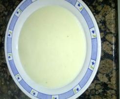 crema de patata y cebolla tierna