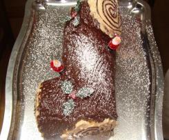 Tronco De Navidad Con Crema Kinder