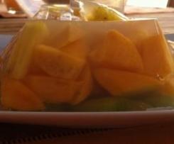 Frutas con agar-agar