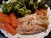 Menú completo: Salmón con verduras