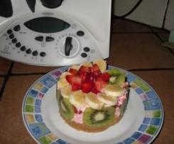 Postre exprés con frutas naturales.