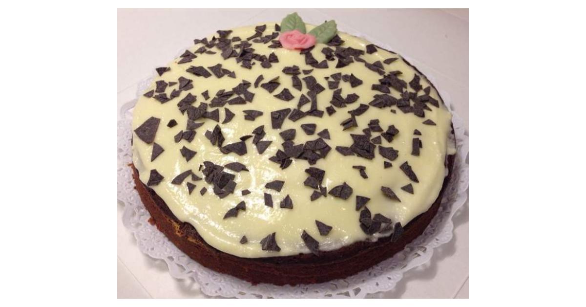 tarta de crema negra