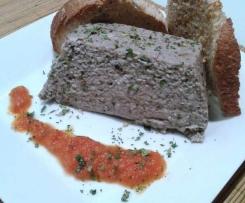 Pudin de setas, tofu y alga wakame