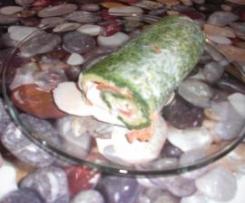 rollo de espinacas y salmon