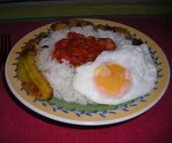 ARROZ A LA CUBANA - plato completo
