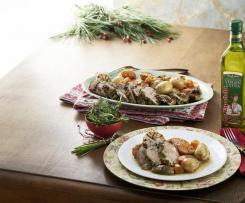 Cordero con costra de hierbas y verduras asadas con la Española ®