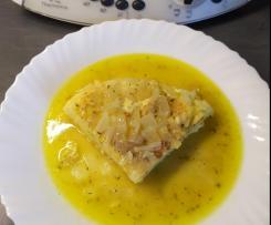 Tortilla de Patata con salsa