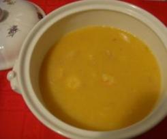 Sopa de Pescado con puré de patata