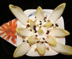 Flor de endivias al queso azul