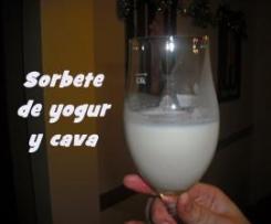 SORBETE DE YOGUR Y CAVA