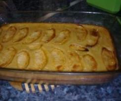 Tarta de manzana y plátano ( facilísima)