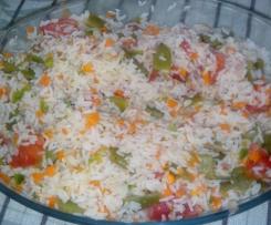 ensalada fría de arroz