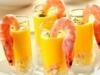 Gazpachuelo de naranjas con gambas