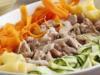Clon de Crema de verduras y pollo al vapor con salsa suprema
