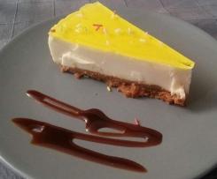 Tarta de queso,chocolate blanco y limon