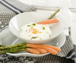 Huevos con espuma de queso (Receta facilitada por Darío Barrio)