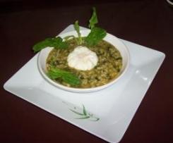 arroz con espinacas  super ligero