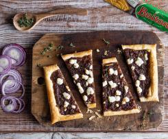 Tarta de cebolla caramelizada con queso de cabra y masa de hojaldre Buitoni