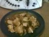 Pechugas de pollo encebolladas con salsa de soja