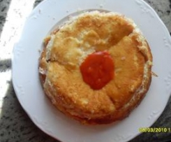 PASTEL DE JAMON YORK Y QUESO BLANCO