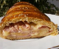 pan relleno de jamon y queso