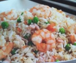 arroz tres delicias estilo chino