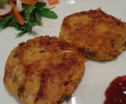 Hamburguesas de okara y zanahoria (vegano)