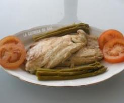LUBINA EN PAPILLOTE(apto para dieta Dukan)
