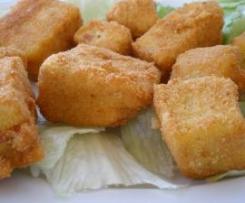 """DADOS DE POLENTA CON BACON Y QUESO Apto para celiacos. Una manera diferente de comer """"Croquetas""""."""