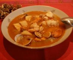 Sopa de marisco a mi manera