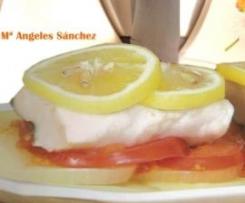 Merluza con salsa de limón