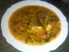 arroz caldoso con jurel y espinacas